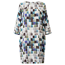 Buy Kin by John Lewis Painted Square Print Dress, Blue Online at johnlewis.com