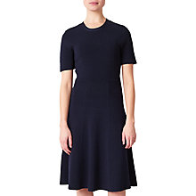Buy John Lewis Darcy Knit Fit And Flare Dress, Navy Online at johnlewis.com