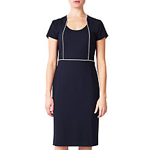 Buy John Lewis Pippa Tipped Ponte Dress, Navy Online at johnlewis.com