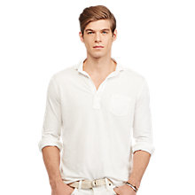 Buy Polo Ralph Lauren Custom Fit Cotton Mesh Polo Shirt, White Online at johnlewis.com