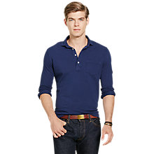 Buy Polo Ralph Lauren Classic Fit Featherweight Polo Shirt, Newport Navy Online at johnlewis.com