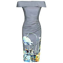 Buy Jolie Moi Printed Bardot Bodycon Dress, Grey Floral Online at johnlewis.com