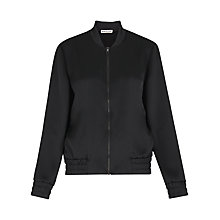 Buy Whistles Embroidered Tiger Bomber Jacket, Black Online at johnlewis.com