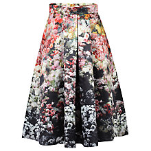 Buy Jolie Moi Floral Print A-Line Midi Skirt, Black Online at johnlewis.com