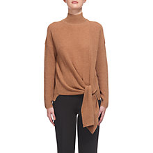 Buy Whistles Tie Side Ribbed Jumper, Camel Online at johnlewis.com