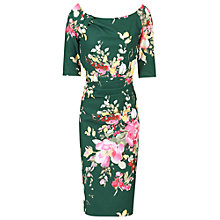 Buy Jolie Moi Floral Print Half Sleeve Ruched Dress Online at johnlewis.com