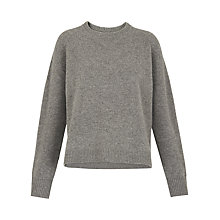 Buy Whistles Boiled Wool Jumper, Grey Marl Online at johnlewis.com