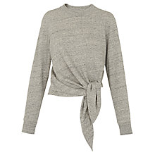 Buy Whistles Tie Front Top, Grey Marl Online at johnlewis.com