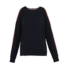 Buy Whistles Estella Stripe Shoulder Knit Jumper Online at johnlewis.com
