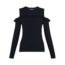 Buy Whistles Frill Bardot Knit, Navy Online at johnlewis.com