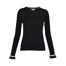 Buy Whistles Stripe Frill Cuff Jumper, Navy Online at johnlewis.com