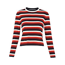 Buy Whistles Madison Stripe Knit, Multi Online at johnlewis.com