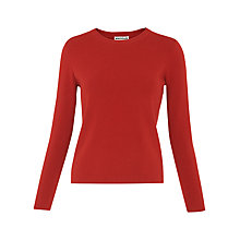 Buy Whistles Stepped Hem Crop Knit Jumper Online at johnlewis.com