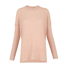 Buy Whistles Mohair Split Side Jumper, Pale Pink Online at johnlewis.com