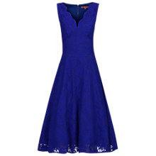 Buy Jolie Moi Scalloped V-Neck Lace Dress, Royal Blue Online at johnlewis.com