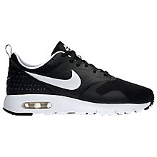Buy Nike Children's Air Max Tavas Sports Trainers, Black/White Online at johnlewis.com