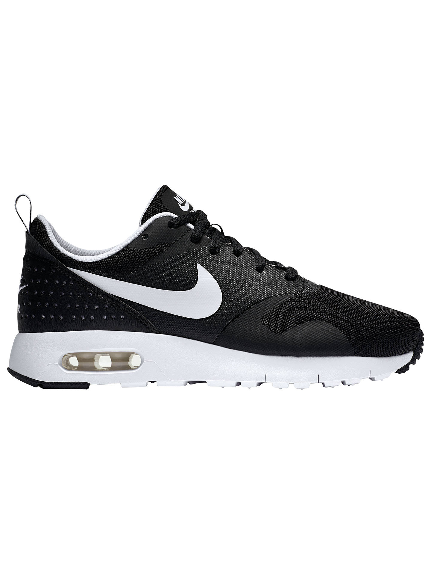 best sneakers afe81 3cbec Buy Nike Children s Air Max Tavas Sports Trainers, Black White, 3 Online at  ...