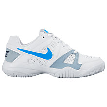 Buy Nike Children's City Court 7 Lace Trainers, White/Blue Online at johnlewis.com