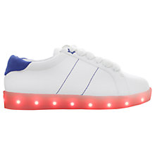 Buy Mini Miss KG Children's Lightening Light Up Trainers, White/Multi Online at johnlewis.com