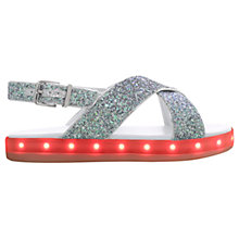 Buy Mini Miss KG Children's Lightening Sandals, Multi Glitter Online at johnlewis.com