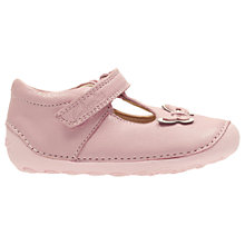 Buy Clarks Baby's Little Wow T-Bar Shoes, Baby Pink Online at johnlewis.com