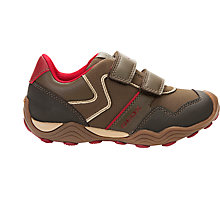 Buy Geox Children's Arno Trainers, Brown/Red Online at johnlewis.com