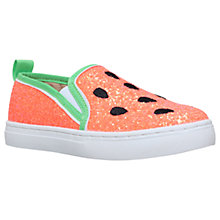 Buy Mini Miss KG Children's Melon Trainers, Pink/Green Online at johnlewis.com