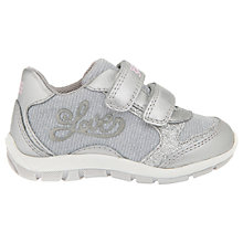 Buy Geox Children's Shaax Love Rip-Tape Casual Shoes, Light Grey Online at johnlewis.com
