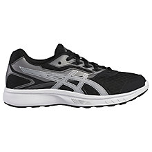 Buy Asics Children's BT Stormer Sports Trainers, Black/White Online at johnlewis.com