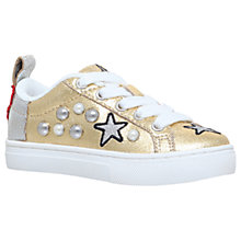 Buy Mini Miss KG Children's Love Heart Trainers, Gold Online at johnlewis.com