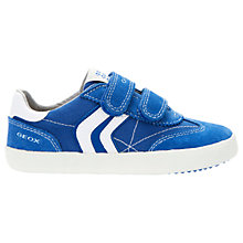Buy Geox Children's Kiwi Double Rip-Tape Casual Shoes, Royal Blue/White Online at johnlewis.com