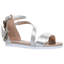 Buy Mini Miss KG Flutterby Metallic Sandals, Silver Metallic Online at johnlewis.com