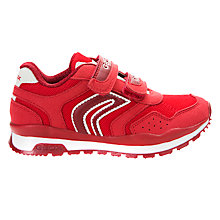 Buy Geox Children's Pavel Suede Riptape Trainers Online at johnlewis.com