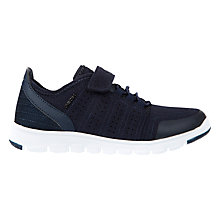 Buy Geox Children's Xunday Riptape Trainers, Navy Online at johnlewis.com