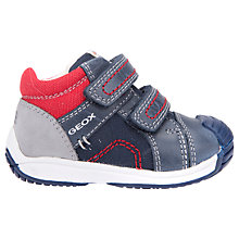 Buy Geox Children's Toledo Trainers, Navy/Red Online at johnlewis.com