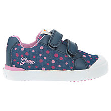 Buy Geox Children's Kiwi Trainers, Navy Online at johnlewis.com