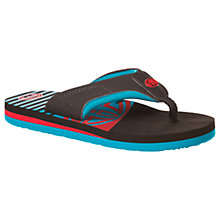 Buy Animal Children's Jekyl Slice Flip Flops, Black/Shadow Blue Online at johnlewis.com