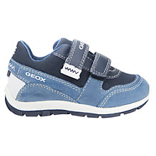 Buy Geox Children's Shaax Trainers, Blue Online at johnlewis.com