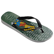 Buy Havaianas Children's Simpsons Flip Flops, Grey Online at johnlewis.com