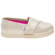 Buy TOMS Children's Alpagartas Casual Shoes, Gold Online at johnlewis.com