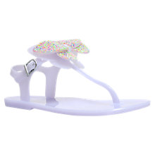 Buy Mini Miss KG Children's Dina Jelly Sandals, Lilac Online at johnlewis.com