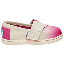 Buy TOMS Children's Alpagartas Casual Shoes, Fuchsia Dip Dye Online at johnlewis.com