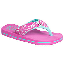 Buy Animal Children's Swish Upper Flip Flops, Pink/Cornflower Blue Online at johnlewis.com