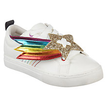 Buy Mini Miss KG Children's Superstar Casual Shoes, White/Multi Online at johnlewis.com