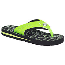 Buy Animal Children's Jekyl Logo Flip Flops Online at johnlewis.com
