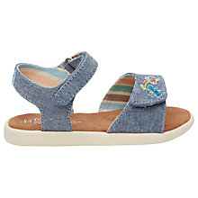 Buy TOMS Children's Strappy Chambray Butterfly Sandals, Blue Online at johnlewis.com