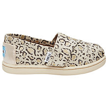 Buy TOMS Children's Alpagartas Casual Shoes, Natural Online at johnlewis.com