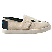Buy TOMS Children's Avalon Panda Shoes, Natural Online at johnlewis.com