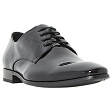Buy Dune Razz Embossed Patent Leather Derby Shoes, Black Online at johnlewis.com