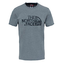 Buy The North Face Woodcut Dome T-Shirt, Grey Online at johnlewis.com